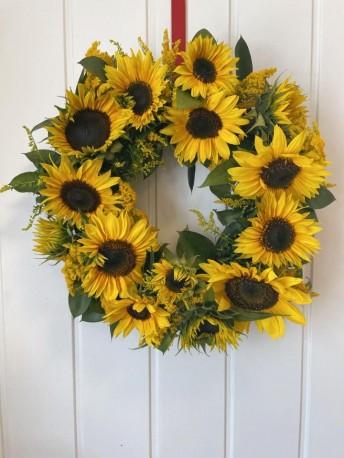fresh sunflower wreath
